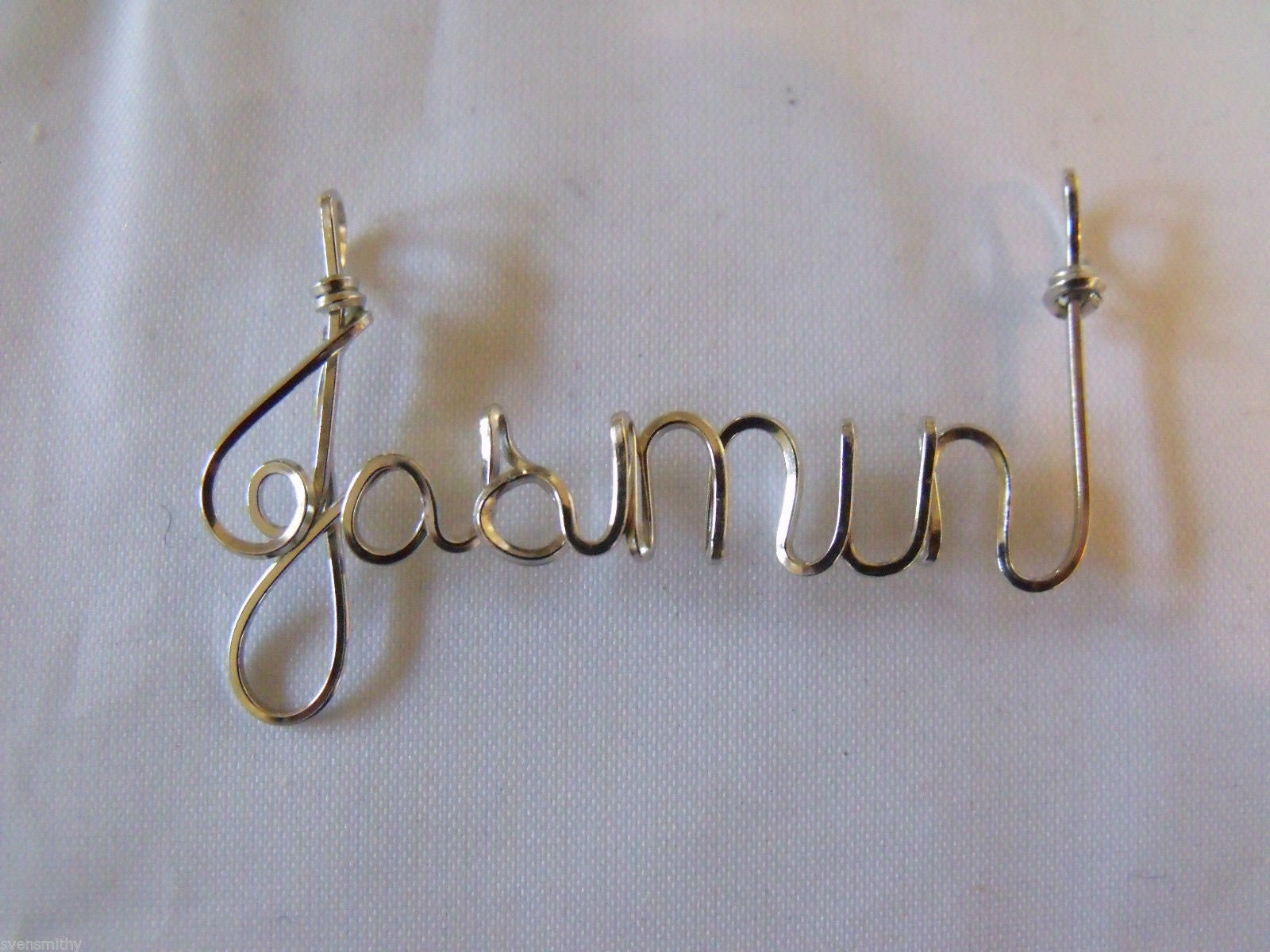 Quartette Singer gift  Wire Name on 18 chain TENOR or ANY name pendant Sterling Silver PERSONALIZED wire name pendant