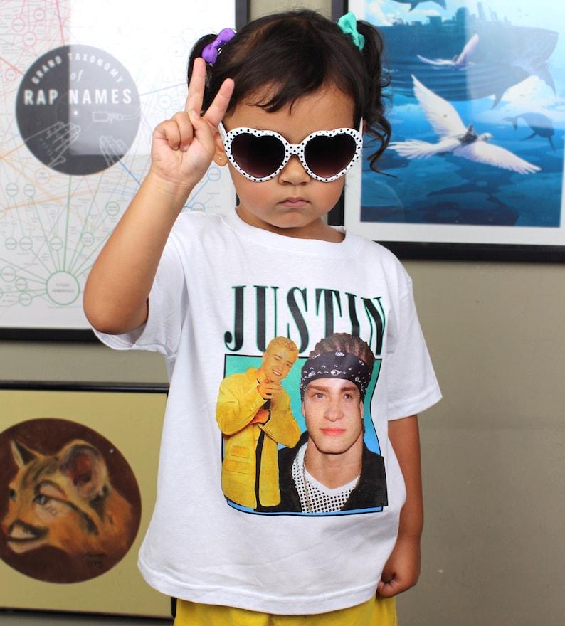 Kids Tee  Justin Timberlake Inspired  90's  Retro image 0