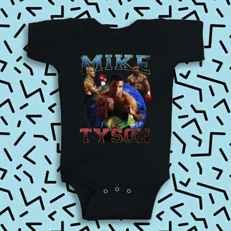 Mike Tyson Inspired Toddler Onesie  90's  Retro image 0