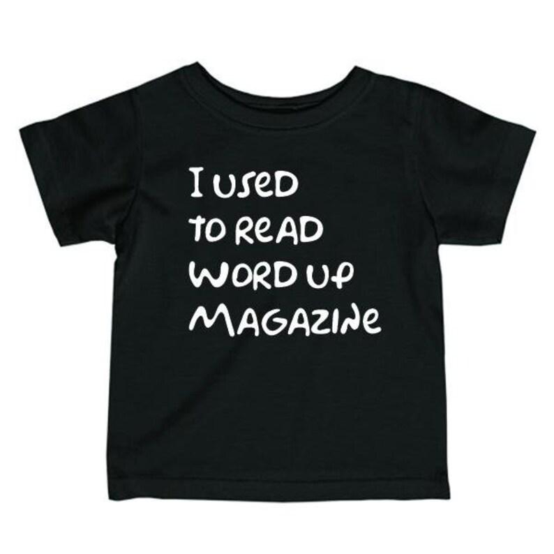 Kids Tee  Word Up Magazine  90's  Vintage image 0