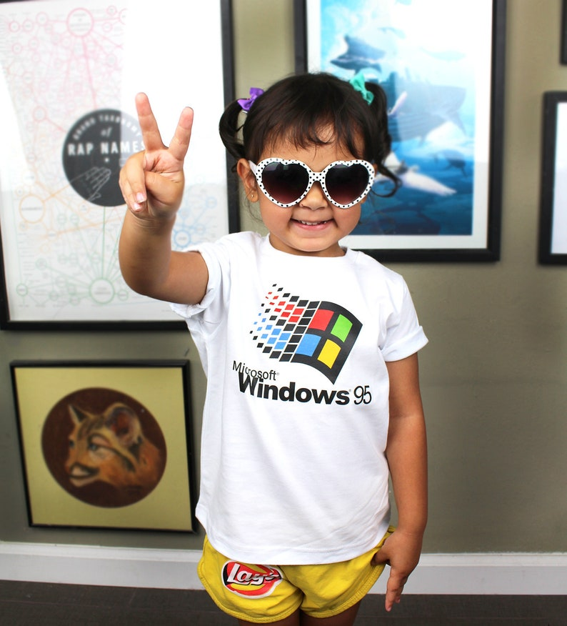 Kids Tee  Windows 95 Inspired  90's  Retro image 0