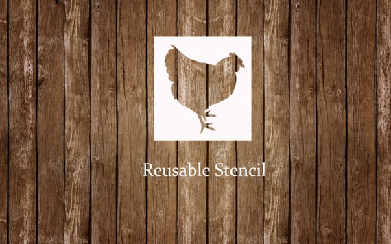 """Stencil 5/"""" Rooster Chicken Star Primitive Country Kitchen Signs Wall Art Border"""