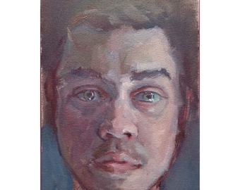 Corey - 6x9, oil on arches paper