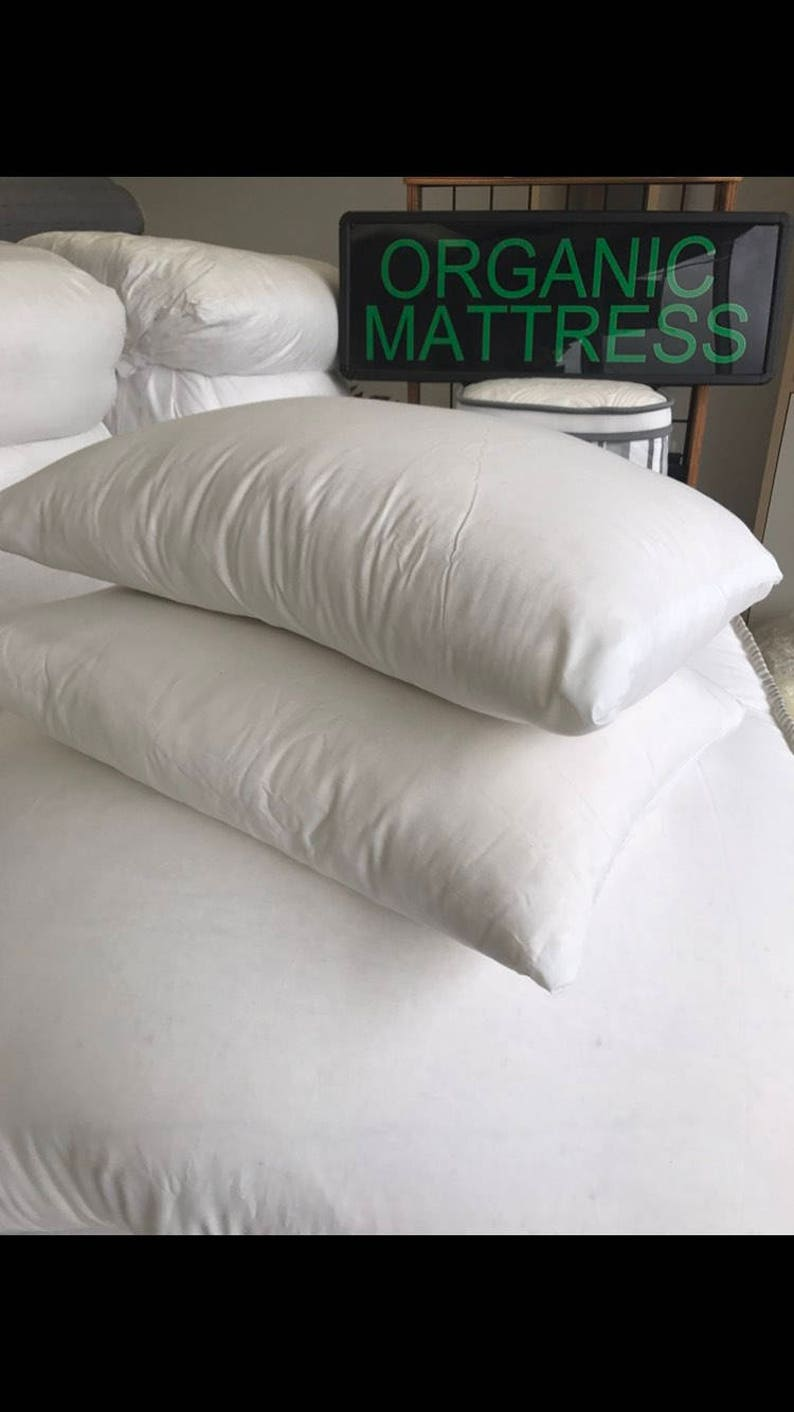 2 Standard cotton /wool bed pillows image 0