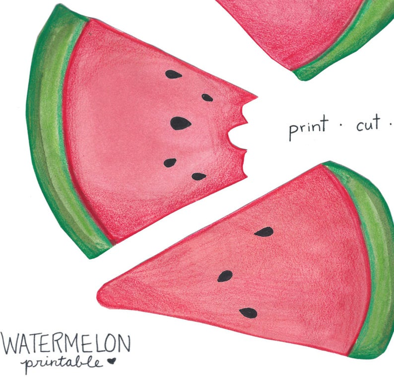 picture relating to Watermelon Printable referred to as Printable Watermelon Banner Bunting Watercolor Electronic Down load
