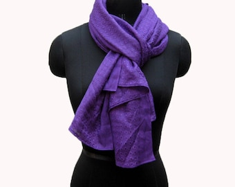 Purple scarf/ plain scarf/ fashion scarf/ gift scarf/ cotton  scarf/ purple stole/ stole/ for her.