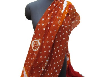 Tie and dye scarf/ banjara scarf/ multicolored scarf/ bandhani scarf/  cotton scarf/ fashion  scarf/ gift scarf / gift ideas.