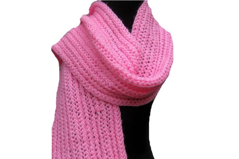 Hand knit scarf/knit scarf/ scarf/ muffler/ unisex scarf/ pink muffler/  woolen muffler/ gift scarf/gift item