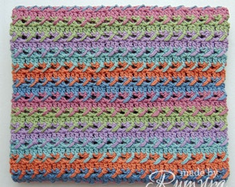 Crochet Pattern   Shining Jewel Baby Blanket