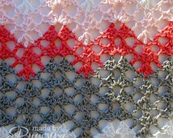Crochet Pattern   Tiffany's Soft Lacy Baby Blanket