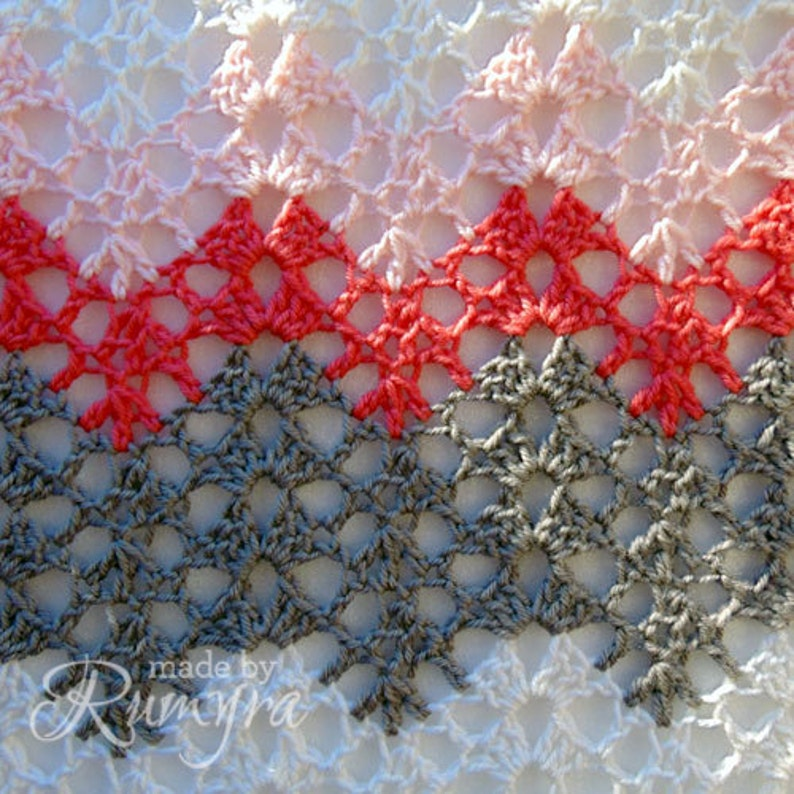Crochet Pattern  Tiffanys Soft Lacy Baby Blanket image 0