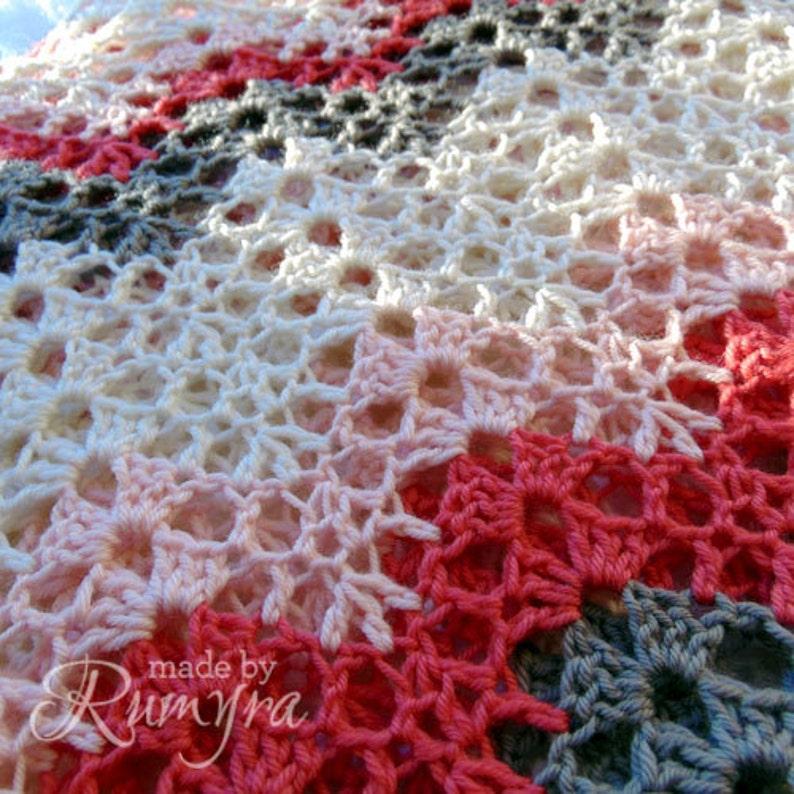 Crochet Pattern  Tiffanys Soft Lacy Baby Blanket image 0