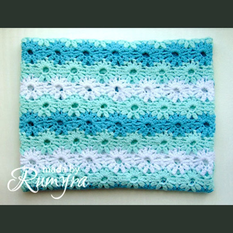 Crochet Pattern  Blanket Baby's First Spring image 0