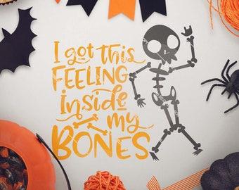 Skeleton Shirt svg, Skeleton Cut File, Inside my Bones svg, Boys Halloween svg, svg for Halloween - Commercial Use SVG & Instant Download