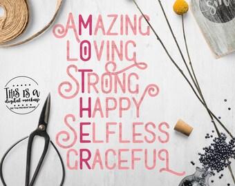Mother's Day svg, Mom svg, Mom Cut File, Mom Cricut svg, svg for Mom - Commercial Use SVG & Instant Download