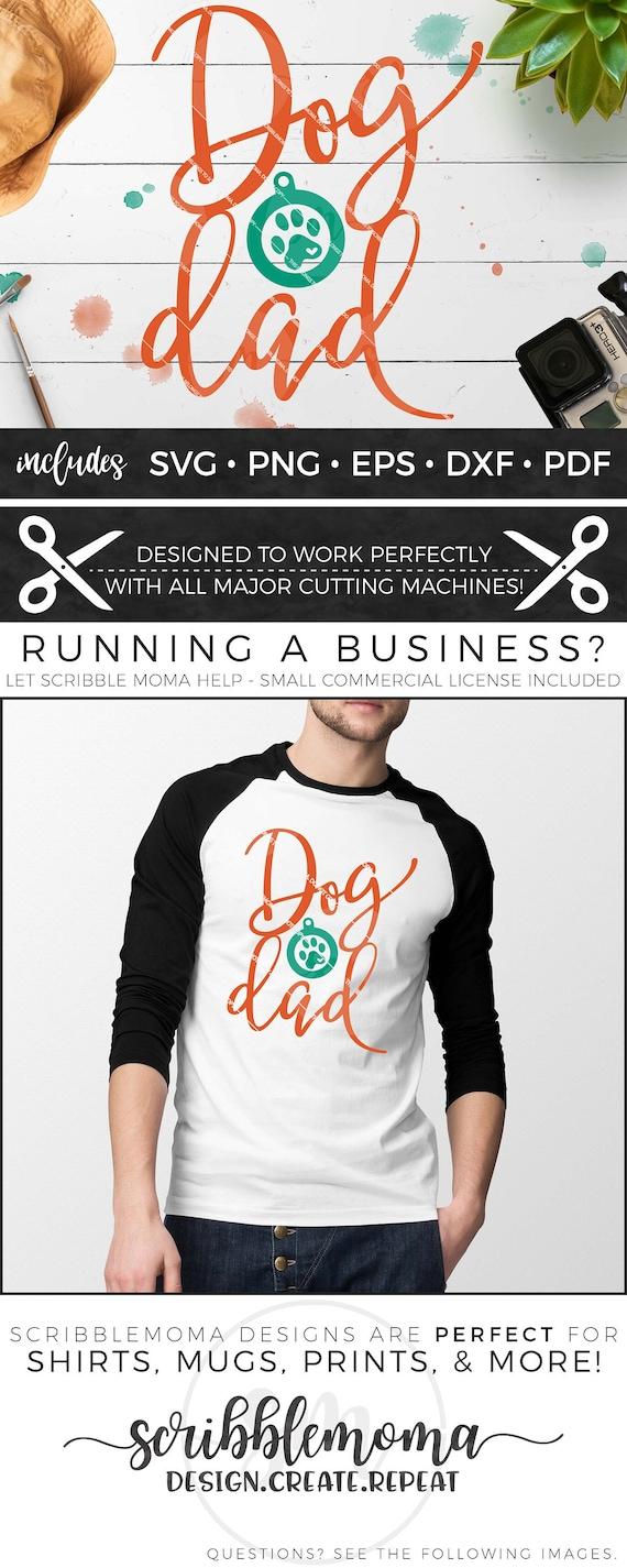 Dog Dad Svg Dog Clipart Dog Svg Paw Print Svg Dog Paw Etsy