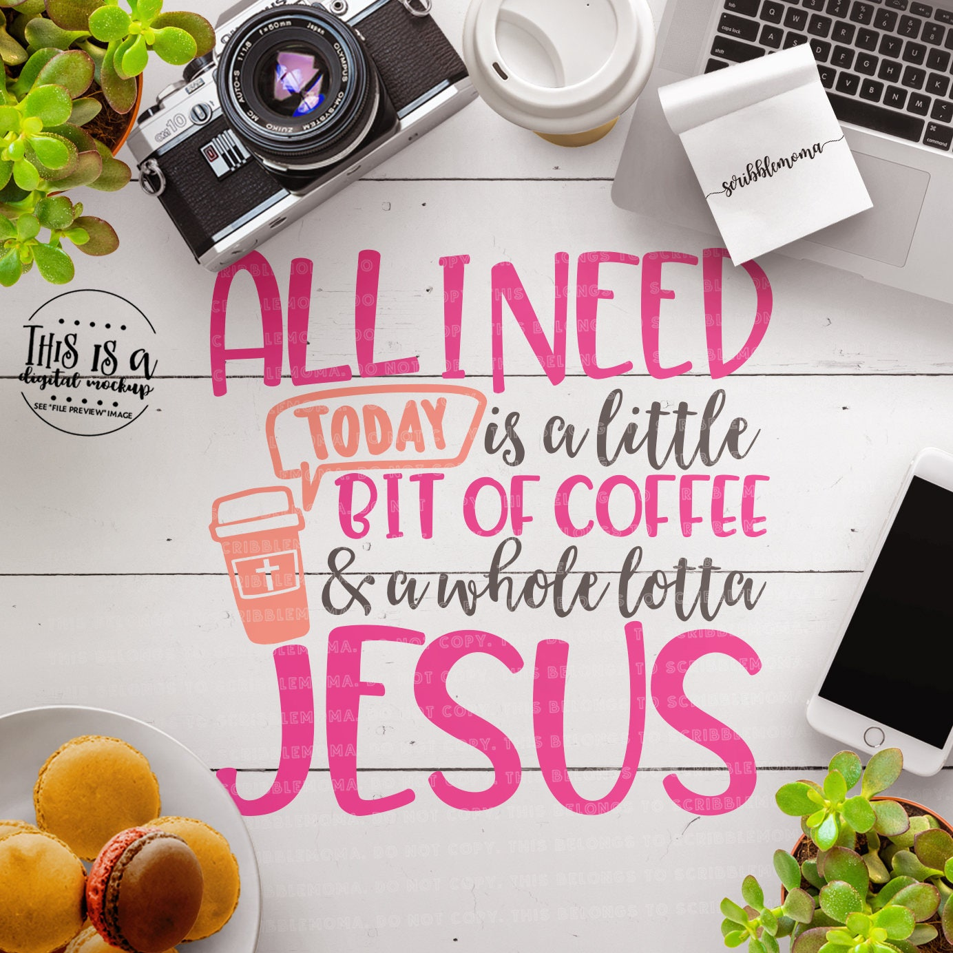 Coffee and Jesus svg Christian svg Christian Cut File Need | Etsy
