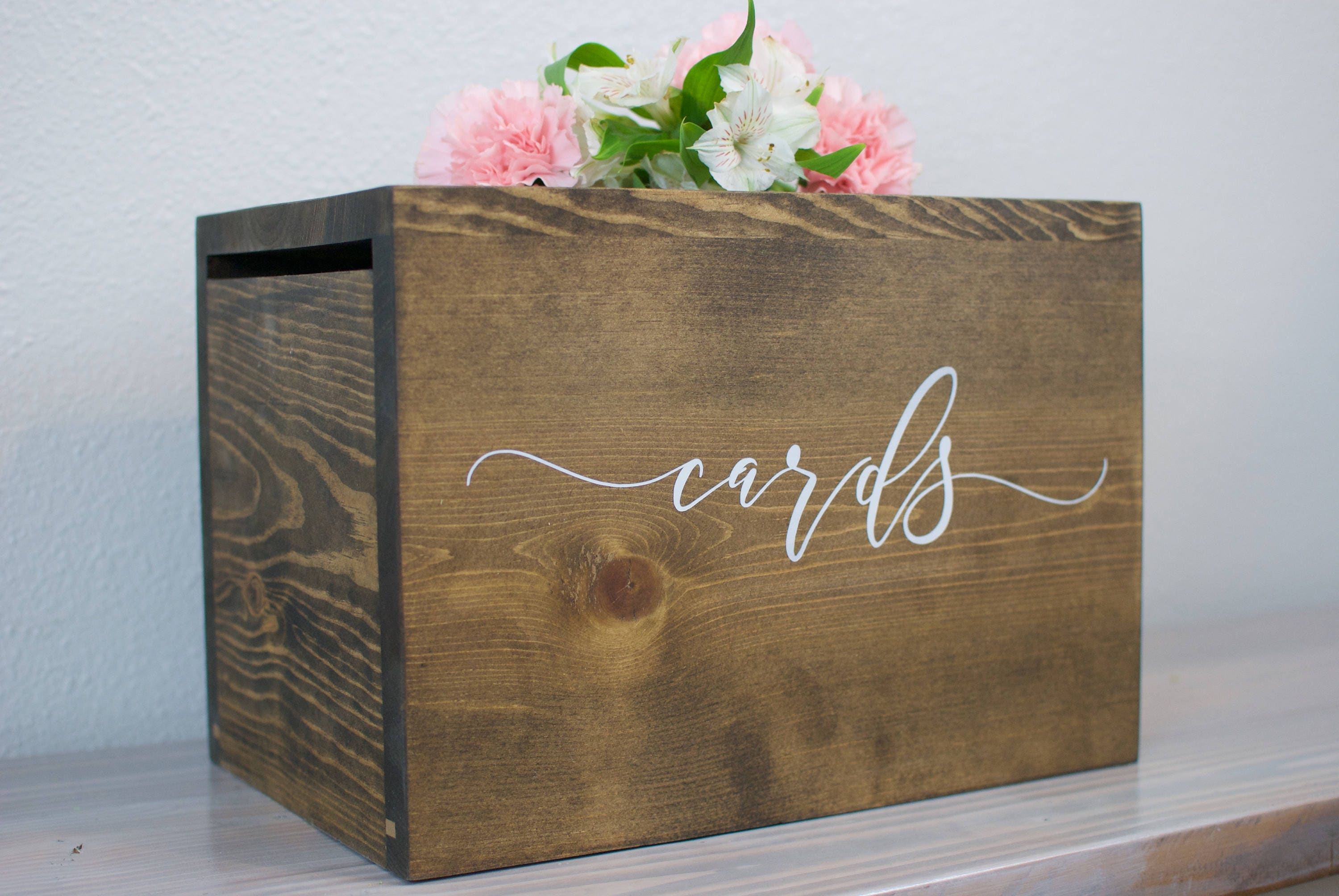 Card Box With Lock Wedding Card Box Wedding Money Box Rustic Wedding Card Box Card Holder Card Box With Slot