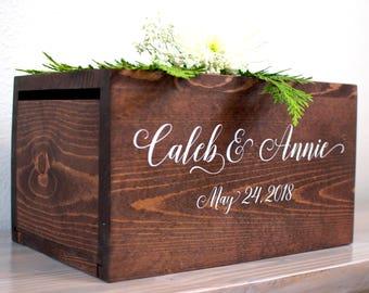 Personalized Wedding Card Box, wedding card box, money box, rustic wedding, rustic card box, wood card box, rustic wedding decor