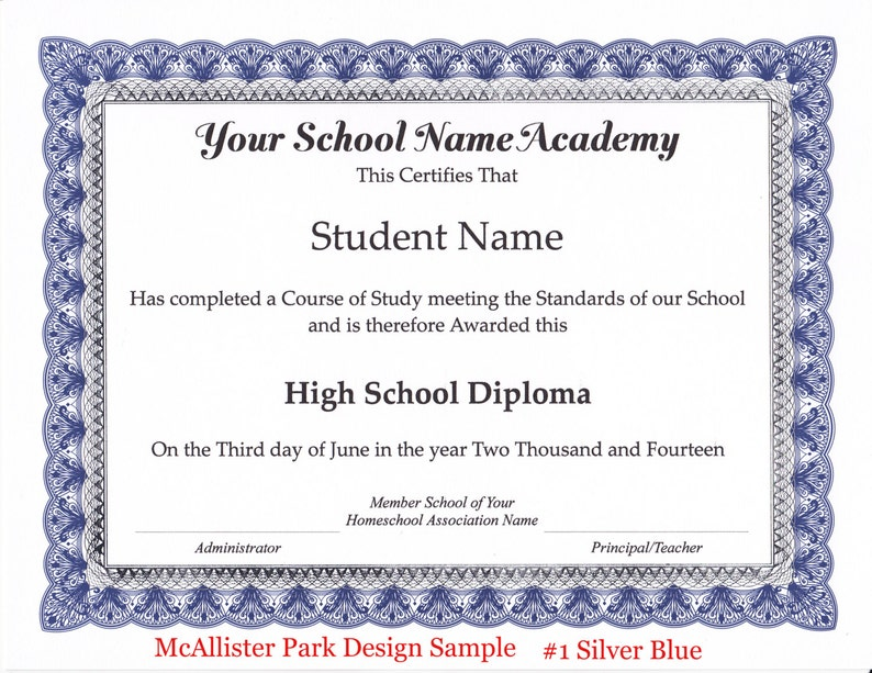 Local Pickup Homeschool Diploma Certificate And Honor Roll
