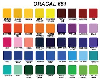 """Oracal 651- 12"""" x 12"""" - Outdoor Vinyl - Permanent vinyl / outdoor vinyl / vinyl for cups / permanent adhesive vinyl / vinyl any cutter"""