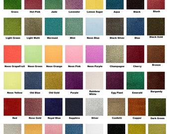 """Siser Glitter heat transfer vinyl (HTV) 20"""" x 12"""" sheets for garment decorating / t-shirts / silhouette / Cricut / Glitter HTV / Iron on"""