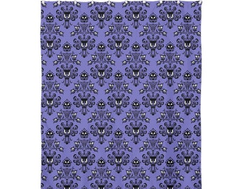 Shower Curtain 60x72 Purple Haunted Mansion Wallpaper 60 X 72