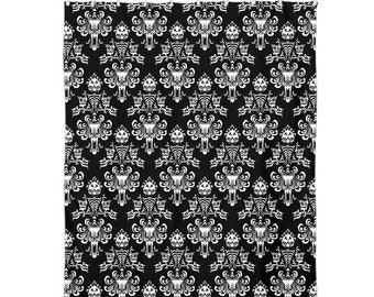 Shower Curtain 60x72 Black Haunted Mansion Wallpaper 60 X 72