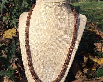 "Copper Viking Knit 21""-23"""