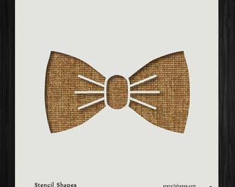 Bow Tie Style Necktie Knot 11077 DIY Plastic Stencil Acrylic Mylar Reusable