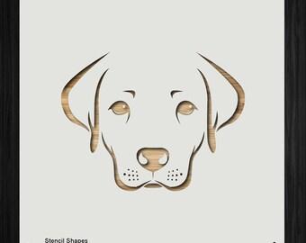 photograph regarding Printable Dog Stencils identify Labrador stencil Etsy