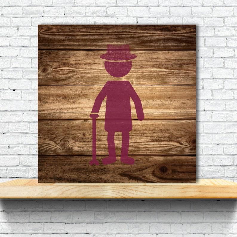 Stencil Plastic Mylar Stencil for Painting Elderly Man Walls Signs ID 1599249 Crafts
