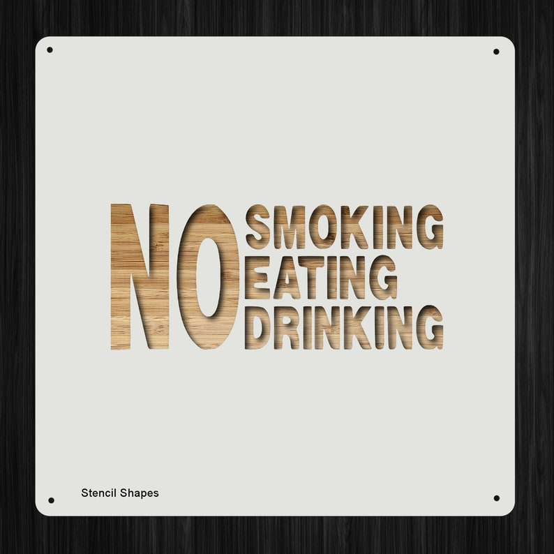 No Smoking Eating Drinking Taxi Cab Plastic Mylar Stencil Painting, Walls,  Crafts, Signs, Large Item 1386222