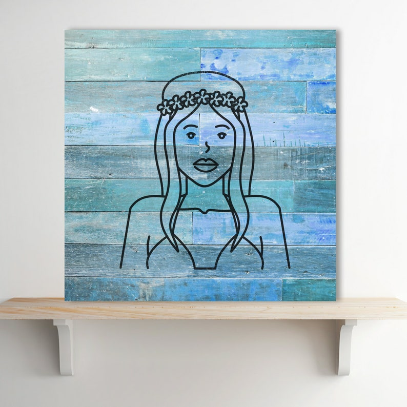 Walls Crafts Signs ID 1866146 Stencil Plastic Mylar Stencil for Painting Beach Girl Surf