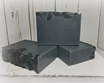 Activated Charcoal Soap  / Natural Soap / Handmade Soap / Acne Soap / Salt Soap / Men's Soap / Oily Skin / Deodorant Soap