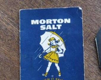 3 Vintage '50s Sewing Needle Promos: Rare Vintage Morton's Salt Girl Needle Folder; Cragmont Soda/Safeway Needle Book + Home Life Insurance