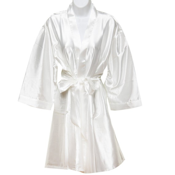 7f79e6fa29 White Bridal Robes Bridesmaid Robe Plain Robes Bride