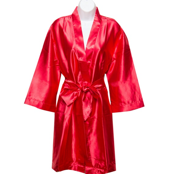 getting ready robes,Bridal shower favor,baby shower,Robe Bridesmaids gift Code:D-23 Red Color Floral Robe Red Robe Red Bridesmaid Robes