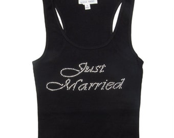 Bridal Tank Top - Just Married Tank Top - Bride Tank Top