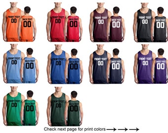 54f4fb041dff Personalized Basketball Jersey Team Shirts Name Number Customized Basketball  Tee Custom Jersey Classic Mesh Reversible Jersey Tank Adult