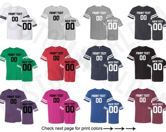 dae6ac59858 Personalized Football Jersey Team Shirts Name Number Customized Name and  Number Tee Custom Jersey Adult Unisex Shirt Put Your Name Number