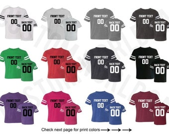 5bfe74ef0 Customized Toddler Football Jersey Team Shirts Name Number Customized Name  and Number Tee Custom Jersey Kids Sizes 2T-5 6 Name Number Tee
