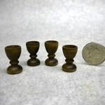 Dollhouse Miniature Drinking Goblets x 4 -  Medieval Tudor