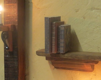 Dollhouse Wall Shelf with Books -  Medieval / Cottage / Tudor