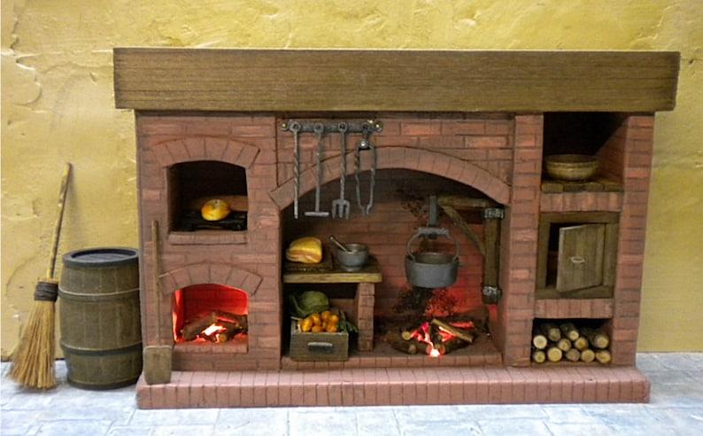 DollHouse Miniature Fireplace Miniature Fireplace Miniature image 0