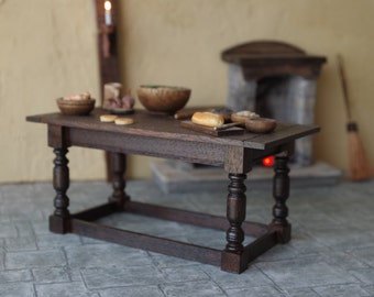 Doll House Table Wooden Tudor Medieval Cottage Historical