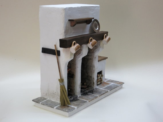 Miniatur Kamin Mittelalterlichen Puppenhaus Miniatur