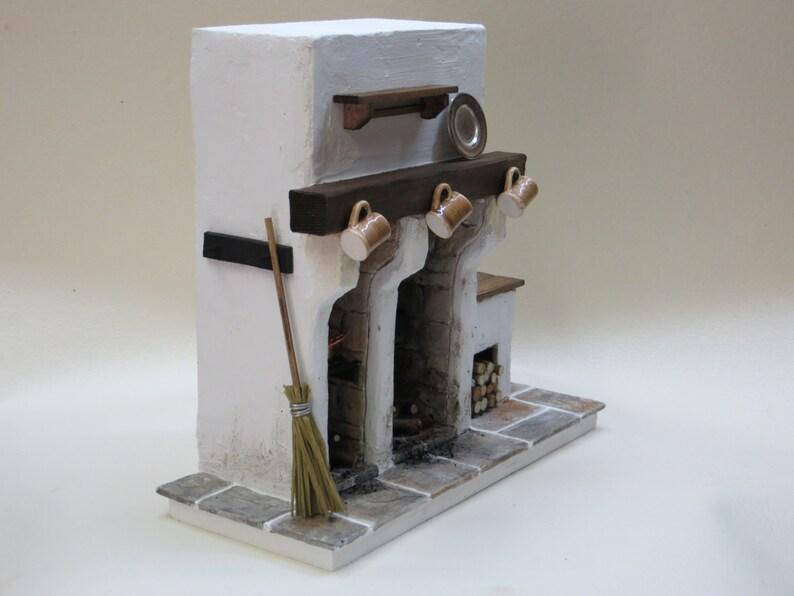 Miniature Fireplace  Medieval DollHouse Miniature  Cottage image 0