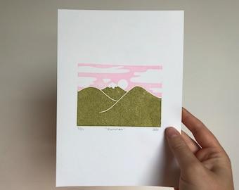 Summer print (editioned linocut)