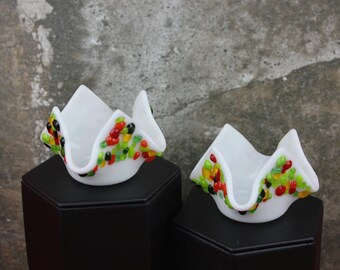 Fused Glass Votive Candle Holders